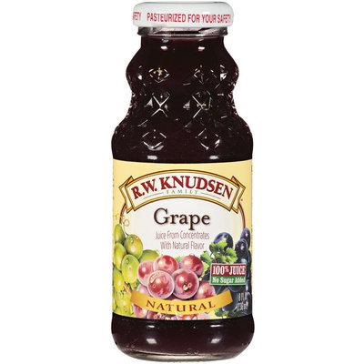 R.W. Knudsen Family™ Natural Grape 100% Juice 8 Oz Glass Bottle