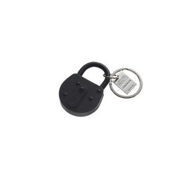 Areaware Lock Keychain Color: Black