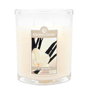 Fragranced in-line Container CC022.1339 22oz. Oval Simply Vanilla Candles