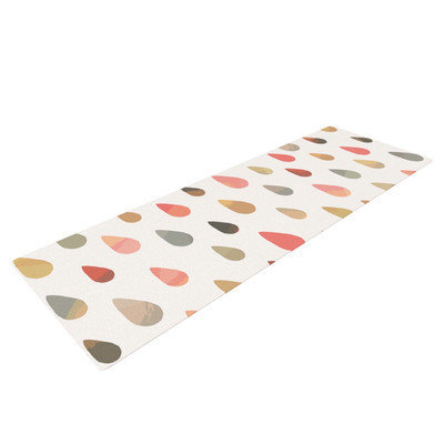 Kess Inhouse Opal Drops by Daisy Beatrice Yoga Mat Color: Yellow