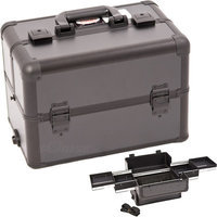 Just Case Usa Inc. Sunrise Black Interchangeable Easy Slide Tray Professional Makeup Case