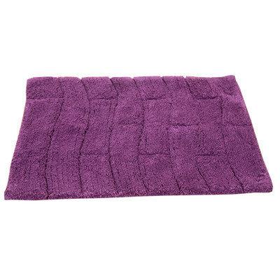 Textile Decor Castle 100% Cotton New Tile Spray Latex Back Bath Rug, 34 H X 21 W, Sage