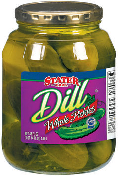 Stater Bros. Whole Dill Pickles 46 Fl Oz Jar