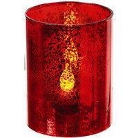 Regency International LED Glass Candle - Size: 3 W x 4 D, Color: Red (Set of 4)