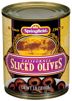 Springfield Ripe Sliced Olives 3.8 Oz Can