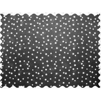 Stwd Cloudy Stars Fabric by the Yard Color: Black