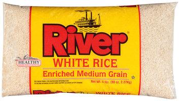 River® White Enriched Medium Grain Rice 80 oz. Bag