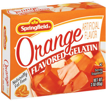 Springfield Orange Flavored Gelatin 3 Oz Box