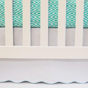 Oliver B Flat Panel Scallop Crib Skirt Color: Sea