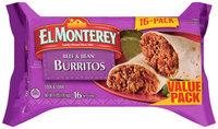 El Monterey® Beef & Bean Burritos 16 ct Bag