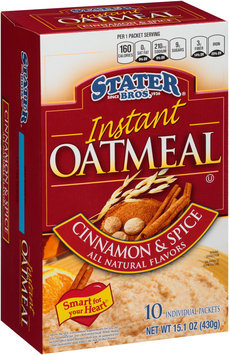 Stater Bros.® Cinnamon & Spice Instant Oatmeal 10 ct Box