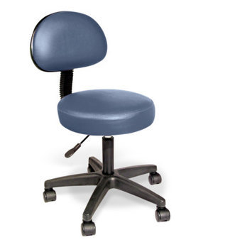 Nrg Rolling Stool with Removable Backrest Color: Agate Blue
