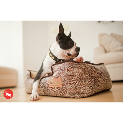 PLAY Savannah Brown Lounge Dog Bed Large