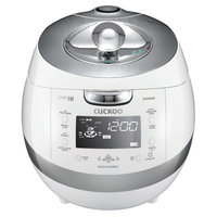 Cuckoo CRP-BHSS0609F 6-Cup Pressure Rice Cooker, 110V, White