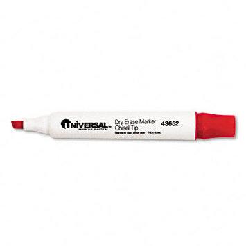 Universal 43652 Dry Erase Marker Chisel Tip Red Dozen