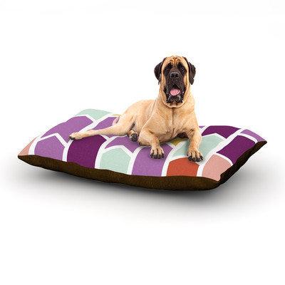 Kess Inhouse 'Orchid Geometric Chevron' Dog Bed, 28 L x 18 W