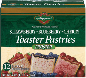 Haggen Strawberry Blueberry & Cherry Frosted 12 Ct Toaster Pastries 22 Oz Box