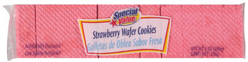 Special Value Strawberry Wafer Cookies 9 Oz Package