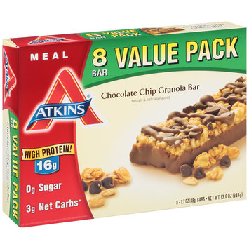 Atkins® Chocolate Chip Granola Bar Meal Bars 8-1.7 oz. Bars