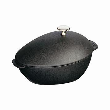 Staub 2 qt. Mussel Pot with Lid in Black Matte