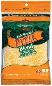 Haggen Finely Shredded Pizza Blend Cheese 8 Oz Zip Pak