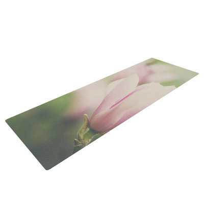 Kess Inhouse A Pink Magnolia by Laura Evans Yoga Mat