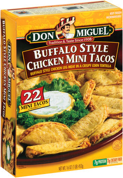 Don Miguel® Buffalo Style Chicken Mini Tacos 22 ct Box