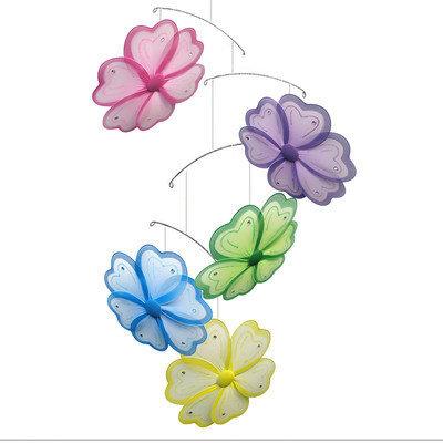 Bugs N Blooms Flower Painted Nylon Hanging Mobile