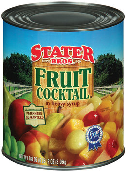 Stater Bros. In Heavy Syrup Fruit Cocktail 108 Oz Can