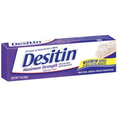 Desitin® 40% Zinc Oxide Diaper Rash Paste Maximum Strength Original Paste 1 Oz Box