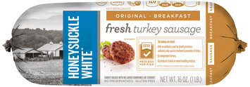 Honeysuckle White: Premium Quality Original Fresh Lean Turkey Breakfast Sausage, 16 Oz