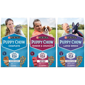 Purina Puppy Chow Puppy Food Family Group Shot
