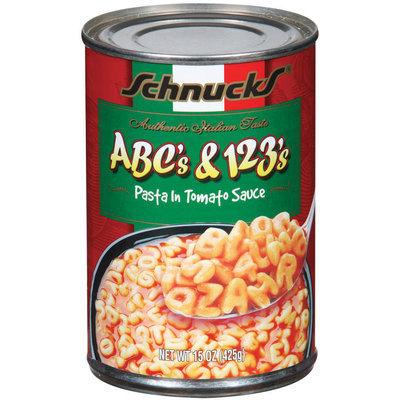 Schnucks Abc's & 123's In Tomato Sauce Pasta 15 Oz Can