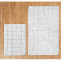 Textile Decor Castle 2 Piece 100% Cotton Summer Tile Spray Latex Bath Rug Set, 30 H X 20 W and 40 H X 24 W