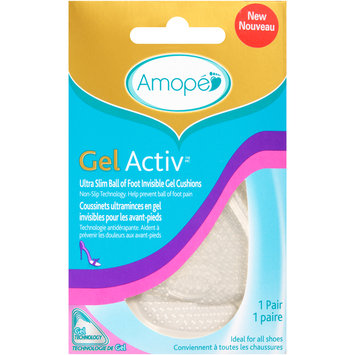 Amope GelActiv™ Ultra Slim Ball of Foot Invisible Gel Cushions 1 pr. Carded Pack