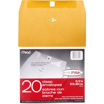 Mead Envelopes, Clasp, Office Pak, 20 envelopes - MEAD PRODUCTS