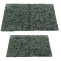 Textile Decor Castle 2 Piece 100% Cotton Palm Spray Bath Rug Set, 34 H X 21 W and 40 H X 24 W, Green