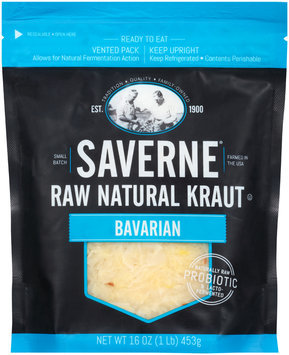 Saverne® Raw Natural Bavarian Kraut 16 oz. Pouch