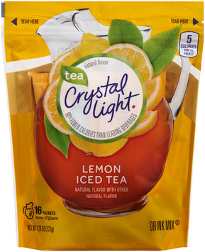 Crystal Light Lemon Iced Tea Drink Mix 16 ct Packets