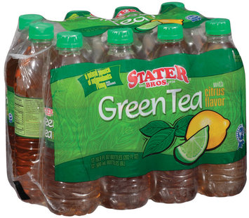 Stater Bros. W/Citrus Flavor 16.9 Oz Bottles Green Tea 12 Ct Package