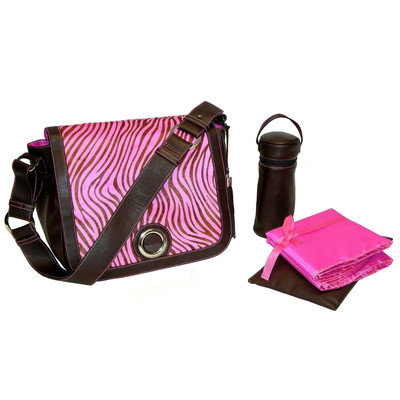 Kalencom Madonna Diaper Bag in Zebra Pink