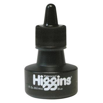 Higgins Color Drawing Inks 1 oz. bottles blue waterproof