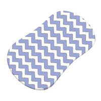 Stwd Zigzag Fitted Bassinet Sheet Color: Baby Blue