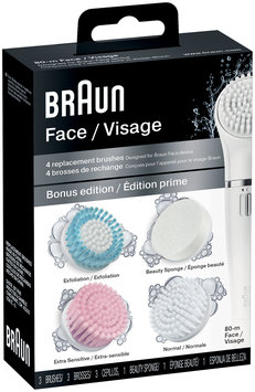Silk-epil Braun facial cleansing routine with 4 brushes for combination skin – Bonus Edition – Braun Face 80-m