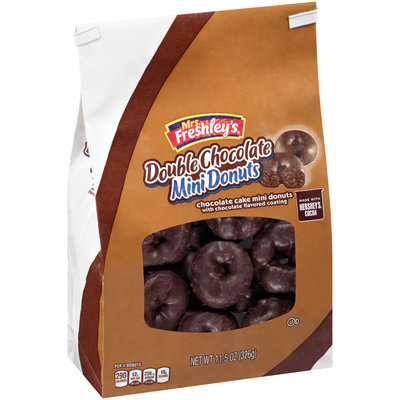 Mrs. Freshley's Double Chocolate Mini Donuts 11.5 oz. Stand up Bag