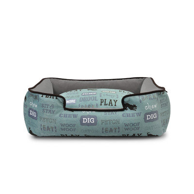 PLAY Dogs Life Light Blue Lounge Dog Bed Medium