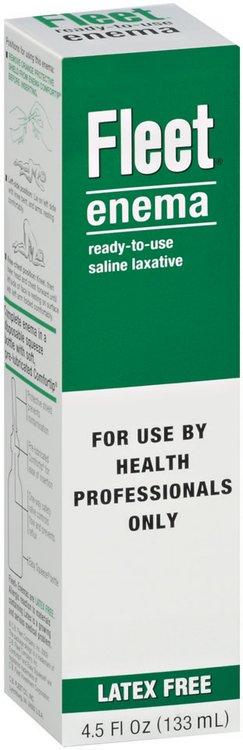 Fleet Ready-to-Use Saline Laxative Health Professional Enema 4.5 Oz Box