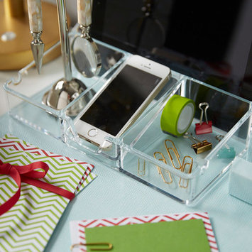 Sharper Image Acrylic Smartphone And Tablet Organizer