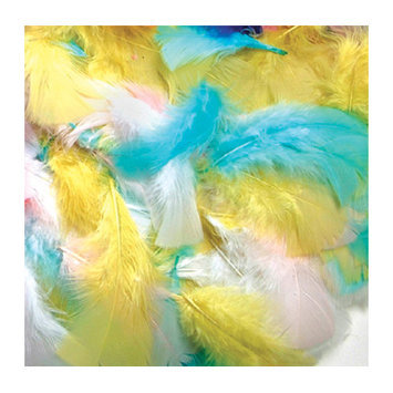CHENILLE KRAFT COMPANY CK-450003 FEATHERS SPRING COLORS
