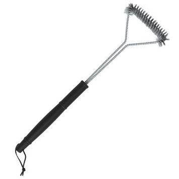 Brinkmann Grilling Accessories. Long Handle Wire Grill Brush with Stainless Steel Bristles
